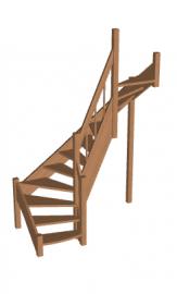 Лестница «Восток-Элегант» П2-790-08