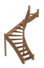 П-образная лестница «Восток-Элегант» П-790-15