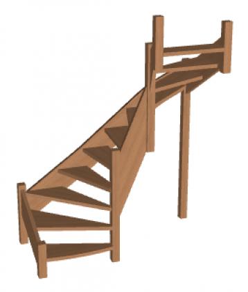 П-образная лестница «Восток-Элегант» П2-790-37