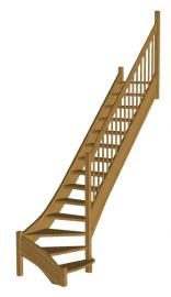Лестница на второй этаж «Восток-Элегант» Г-790-18