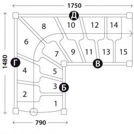 Лестницы гусиный шаг «Восток-Элегант» ГШГ-790-11
