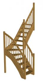 Деревянная лестница «Восток-Элегант» Г-760-03
