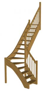 Г-образная лестница «Восток-Элегант» Г-760-12