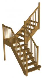 Деревянная лестница «Восток-Элегант» ПГ-950-01