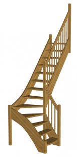 Лестница на второй этаж «Восток-Элегант» Г-950-15