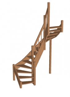 Лестница в коттедж «Восток-Элегант» П2-790-20