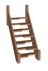 Лестница гусиный шаг «Восток-Элегант» ГШ-08