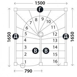 Лестница на второй этаж «Восток-Элегант» П-790-12