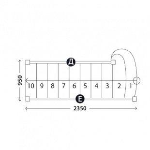 Лестница «Восток-Элегант» ПМ-950-05