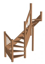 Лестница «Восток-Элегант» П2-790-06
