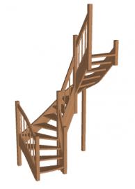 Лестница «Восток-Элегант» П2-790-11