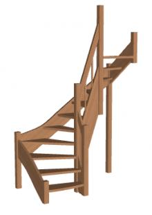 Лестница «Восток-Элегант» П2-790-05
