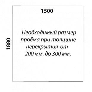 П-образная лестница «Восток-Элегант» П-790-18