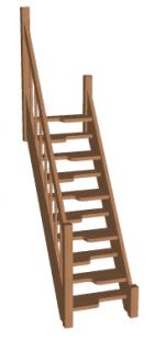 Лестница гусиный шаг «Восток-Элегант» ГШ-04