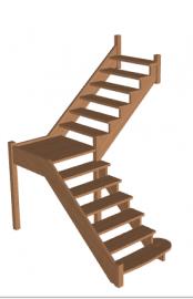 Лестница с площадкой «Восток-Элегант» ПГ-950-04