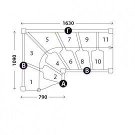 Г-образная лестница «Восток-Элегант» ГШГ-790-13