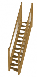 Лестница с гусиным шагом «Восток-Элегант» ГШ-01