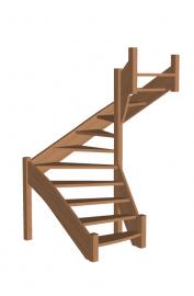 П-образная лестница «Восток-Элегант» П-790-06