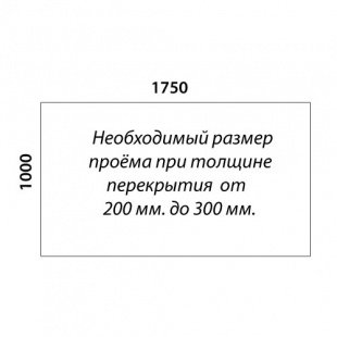 Г-образная лестница «Восток-Элегант» ГШГ-790-05