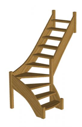Лестница в баню «Восток-Элегант» Г-760-04