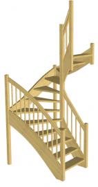 Лестница для дачи «Восток-Элегант» П-950-01