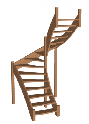 Лестница на второй этаж «Восток-Элегант» П-950-24