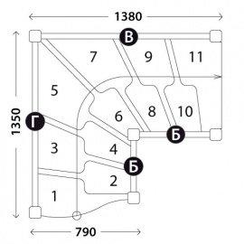 Лестницы гусиный шаг «Восток-Элегант» ГШГ-790-08