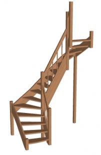 П-образная лестница «Восток-Элегант» П2-790-44