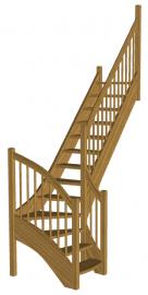 Лестница для дома «Восток-Элегант» Г-950-17
