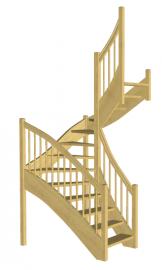П-образная лестница «Восток-Элегант» П-790-02