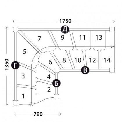 Лестницы гусиный шаг «Восток-Элегант» ГШГ-790-06
