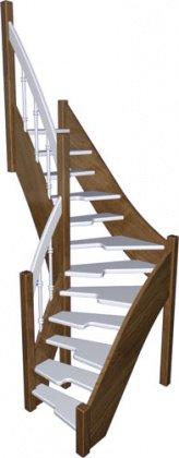 Готовая лестница «Восток-Элегант» ГШГ-790-03