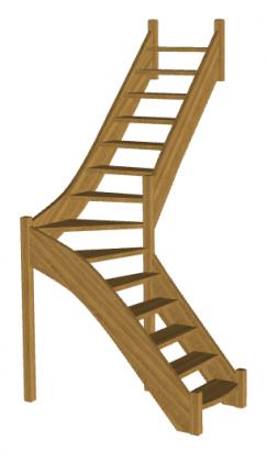 Г-образная лестница «Восток-Элегант» Г-760-06