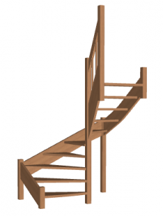 Лестница в баню «Восток-Элегант» П-790-26