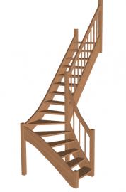 Лестница г-образная «Восток-Элегант» Г-950-28