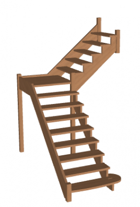 Лестница с площадкой «Восток-Элегант» ПГ-950-07