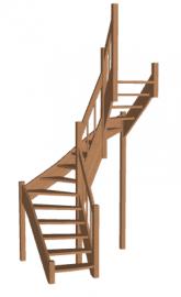 П-образная лестница «Восток-Элегант» П2-790-42