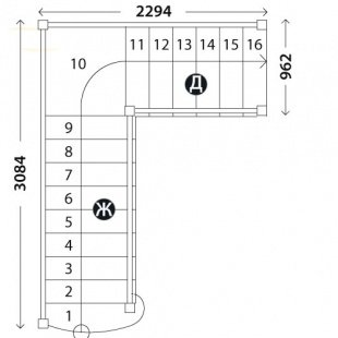 Лестница для дома «Восток-Элегант» ПГ-950-17
