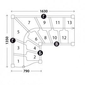 Лестницы гусиный шаг «Восток-Элегант» ГШГ-790-01