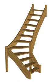 Деревянная лестница «Восток-Элегант» Г-760-02