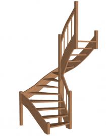П-образная лестница «Восток-Элегант» П-790-07