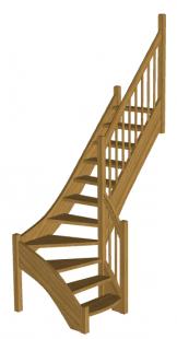 Г-образная лестница «Восток-Элегант» Г-760-09