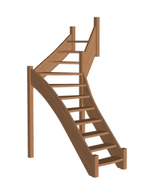 Г-образная лестница «Восток-Элегант» Г-760-33