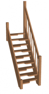 Лестница гусиный шаг «Восток-Элегант» ГШ-06