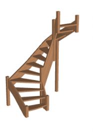 Лестница «Восток-Элегант» П2-790-09