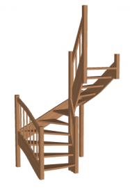 П-образная лестница «Восток-Элегант» П-790-11
