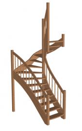 Лестница для дачи «Восток-Элегант» П-790-10