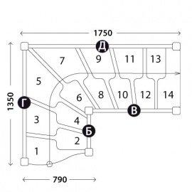 Г-образная лестница «Восток-Элегант» ГШГ-790-06