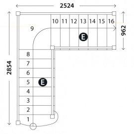 Лестница «Восток-Элегант» ПГ-950-18