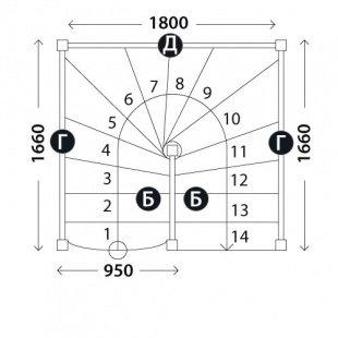 Лестница «Восток-Элегант» П-950-03